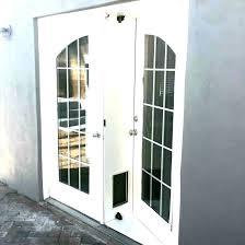 french doors with pet door french doors with dog door for installed pet exterior french doors