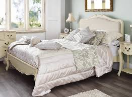 shabby chic bed. Modren Chic JULIETTE Shabby Chic Champagne Upholstered Double Bed 4FT6 Cream Bed Frame  5060346450322  EBay And Bed E