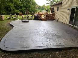 concrete patio with fire pit. Contemporary With Stamped Concrete Patio Fire Pit Throughout Patio With W