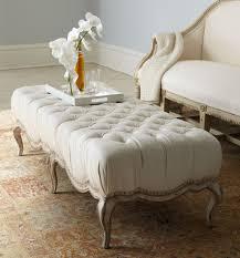 cream tufted ottoman coffee table