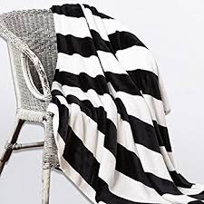 Black And White Striped Throw Blanket