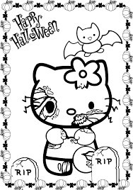 Small Picture Scary Halloween Coloring Sheets Es Coloring Pages