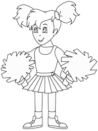 Small Picture Cheerleading Coloring Pages Birthday Printable