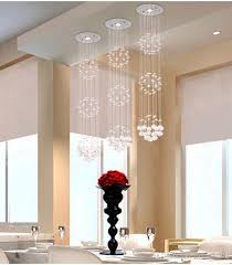attractive hanging lights for living room modern crystal chandeliers ceiling crystal pendant lamp living