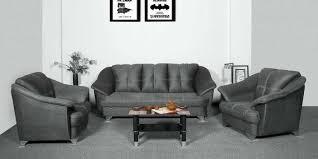 royale 3 1 1 sofa set in grey colour