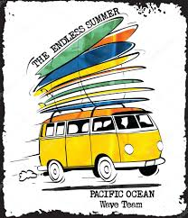 Vector surf car print — Stock Vector © swsctn80.hotmail.com #96956810