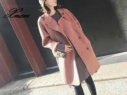 <b>2019 Xnxee</b> Fashion Slim Long Winter Fashion Wool Coats Solid ...