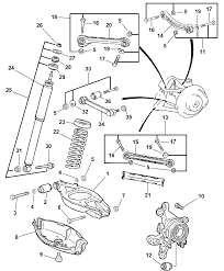 2004 chrysler crossfire rear suspension diagram 00i77664