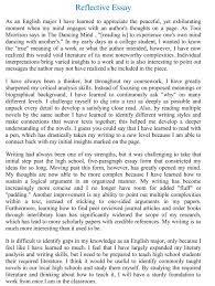 nurse essay free reflective essay examples