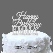 Custom Name Happy Birthday Cake Topperpersonalized Birthday Cake