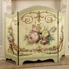 architecture decorative fireplace screens throughout victorian rose screen decorations 11 tv lift cabinet marble top nightstand