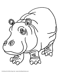 Hippo Face Coloring Pages Baby Chronicles Network