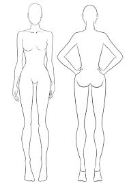 female body outline template back template coles thecolossus co