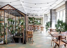 Indoor Garden Genbygs Indoor Garden Restaurant Made Of Recycled Materials