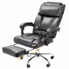 office reclining chair. barton executive reclining office chair ergonomic high back leather footrest i