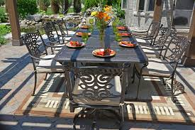 serena luxury 8 person all welded cast aluminum patio furniture dining set