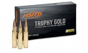 Hsm Trophy Gold Ammunition 300 Weatherby Magnum 168gr Berger Vld Hollow Point Boat Tail