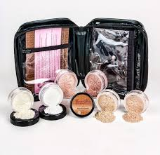 l kit with cosmetic case mineral makeup set bare face matte powder foundation