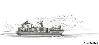 Tanker In Sea Illustration Vector Stock Image And Royalty Free