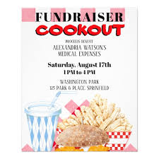 Fundraiser Cookout Barbecue Fast Food Gingham Flyer
