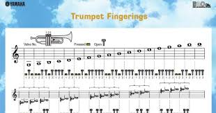 Music Lessons Trumpet Lessons Trumpet Fingering Chart For