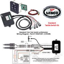 lenco waterproof trim tab led indicator switch kits lenco trim tab indicator