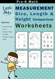 Pre-K Measurements Worksheets and Activities | Little Dots ...