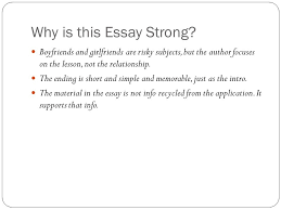 the bad college essay ppt video online  why is this essay strong