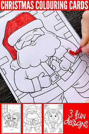 Print coloring pages for mother's, dad's, grandpa, grandma, earth, teacher's day. Free Printable Christmas Colouring Cards For Kids Childhood 101