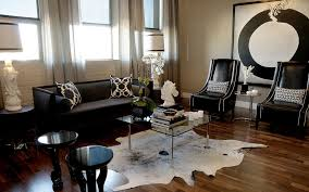 living room ideas with cowhide rug. splashy black sofa technique other metro contemporary living room decorators with area rug artwork armchair brick wall cowhide curtains ideas r