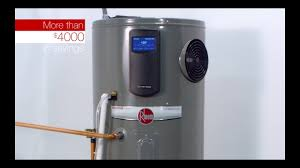 Hybrid Water Heater Vs Tankless Smart Features Of The Rheem Hybrid Electric Water Heater Youtube