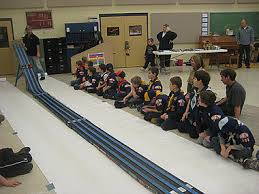 pinewood derby race cars pinewood derby race making back to the bricks debut mlive com