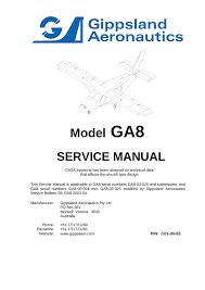 Ga8 Service Manual Casa Amdt 54 C01 00 03 Manualzz Com
