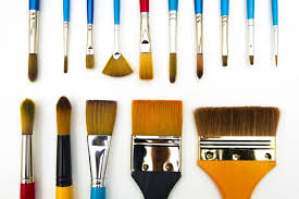 types and shapes of art paint brushes hog brushes for oil painting