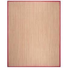 natural fiber brown red sisal rug 8x10