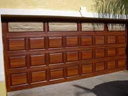 painting fiberglass garage door to look