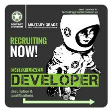 entry levle recruitment flyer entry level developer