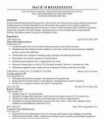 Direct Sales Resumes Direct Sales Representative Resume Sample Livecareer