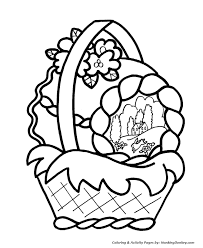 Small Picture Easter Basket Coloring Pages Cute Easter Basket Coloring Sheet