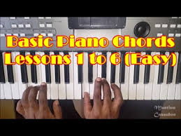 Basic Piano Chords For Beginners Lessons 1 To 6 How To Play Easy Piano Chords Full Video
