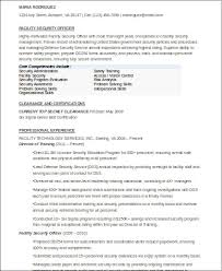Security Officer Resume Impressive 28 Sample Security Officer Resumes Sample Templates