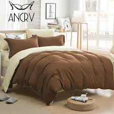 ancrv super soft duvet cover set luxurious comfortable ultra soft multiple colors fade resistant hypoallerge black and white bedding white bedding from