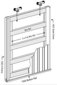 barn sliding door frame embly