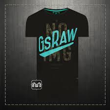 G Star Raw Flank R T Graphic Printed Logo Black Crewneck T