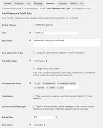 woomerce intuit payments settings 1