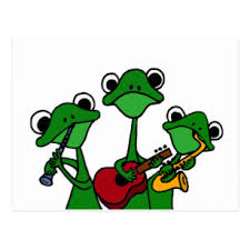 Image result for frog playing music