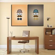 office canvas art. 2 Pcs Morden Office Decor Canvas Wall Art Picture Living Room Print Modern Painting Large T