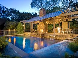 Outdoor Kitchen Designs With Pool Interesting Inspiration Design