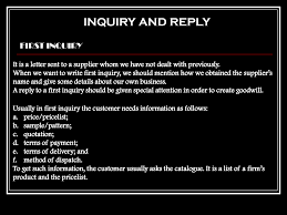 example of inquiry letter and reply apology letter  inquiry