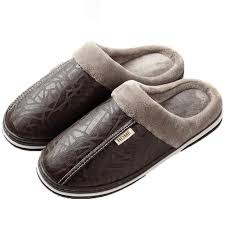 tongzone mens womens water repellent house slippers non slip plush lined indoor outdoor house shoes